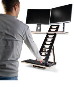T-RIX sit stand riser para 2 monitores